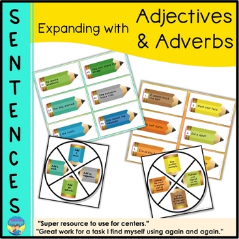 Parts of Speech- Expanding Sentence Structure Game- Adject