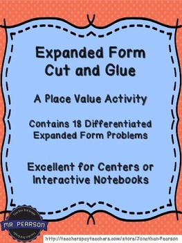Expanded Form - Cut and Glue - Activities to Practice Expa