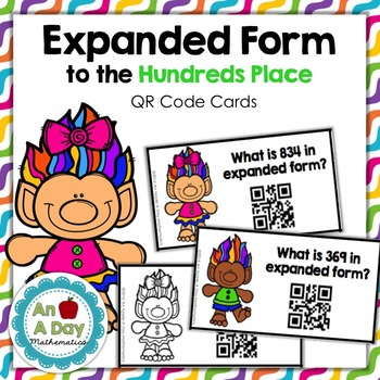 Expanded Form Place Value QR Code Task Cards