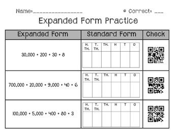 Expanded Form QR Code