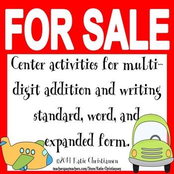 Expanded, Standard, and Word Form and Multi-Digit Addition