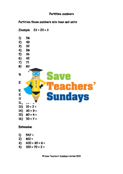 Expanded form lesson plans, worksheets and other teaching