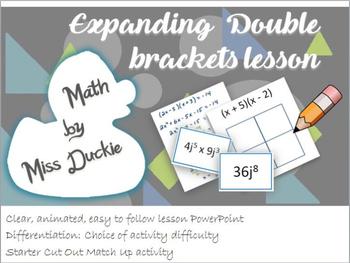 Expanding Double Brackets Lesson