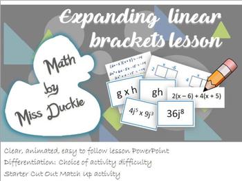 Expanding Linear Brackets Lesson