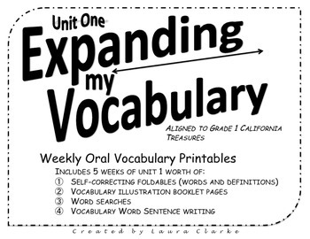 Expanding My Vocabulary Treasures First Grade Oral Vocabul