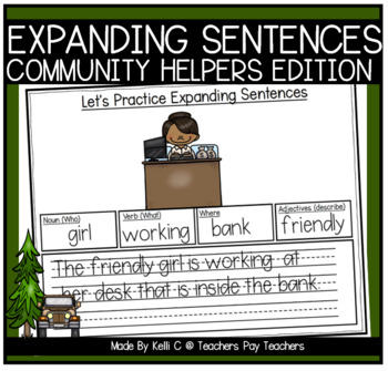Expanding Sentences-Community Helpers (Using Nouns, Verbs,