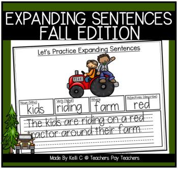 Expanding Sentences-Fall Edition (Nouns, Verbs, Adjectives