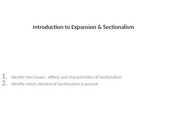 Expansion and Sectionalism in the United States interactiv