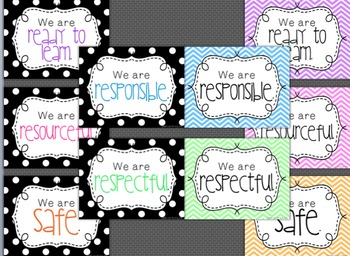 Expectation Posters: Black and Brights, Polka Dots or Chevron