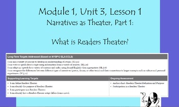 Expeditionary Learning Grade 5, Module 1, Unit 3, Lesson 1