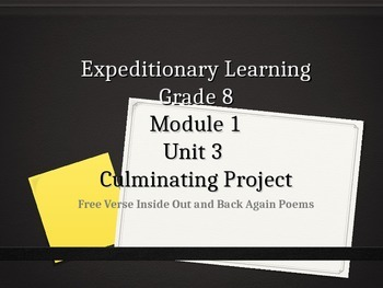 Expeditionary Learning Grade 8 ELA Module 1 Unit 3 Lesson