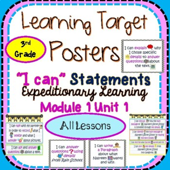 Engage NY Expeditionary Learning 3rd Grd Module 1 Unit 1 L