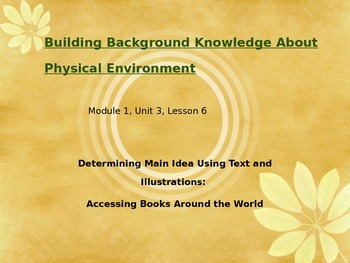 Expeditionary Learning Module 1, Unit 3, Lesson 6