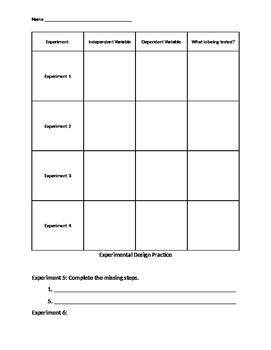 Experimental Design Answer Document