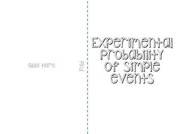 Experimental Probability booklet