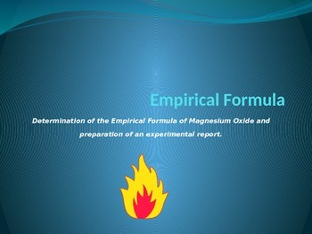Experimental determination of the Empirical Formula of Mag