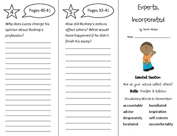 Experts Incorporated Trifold - Wonders 4th Grade Unit 1 Week 2