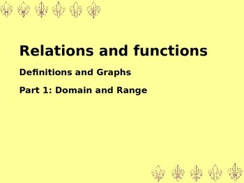 Explaining Domain and Range with graphs