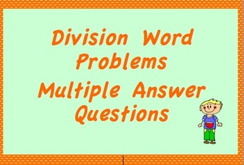 Explaining the Remainder in a Division Prob., Multiple Ans
