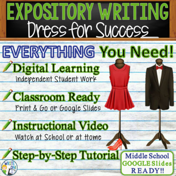 EXPOSITORY WRITING PROMPT - Dress for Success - Middle School