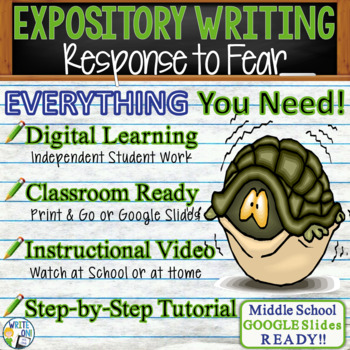 EXPOSITORY WRITING PROMPT - Response to Fear - Middle School