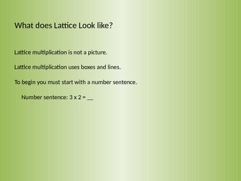 Explicit Instruction - Lattice Multiplication