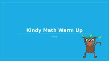 Explicit Teacher Math Warm Up Term 1 Week 5 Kindy