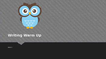 Explicit Teacher Writing Warm Up Term 1 Week 5 Pre-primary