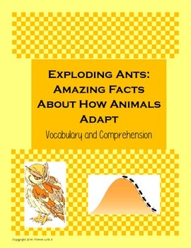 Exploding Ants Vocabulary and Comprehension