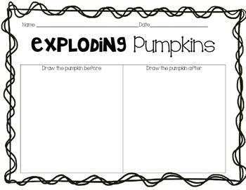 Exploding Pumpkin Observation Sheet