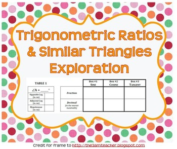 Exploration Trigonometric Ratios in Similar Triangles
