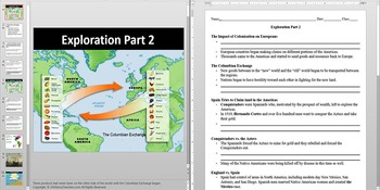 Exploration of America and the Conquistadors Powerpoint AN