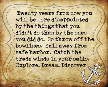 Explore.Dream.Discover Inspirational Poster