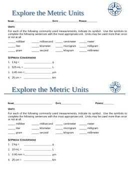 Explore Metric Units