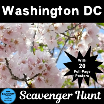 Explore Washington DC Scavenger Hunt with Posters