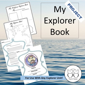 Explorer Activity Fun  Book Project  No Prep Great for Hom