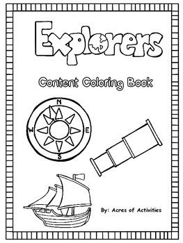 Explorer Content Coloring Book
