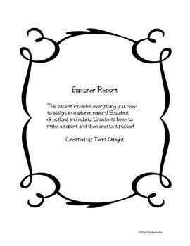 Explorer Report Form