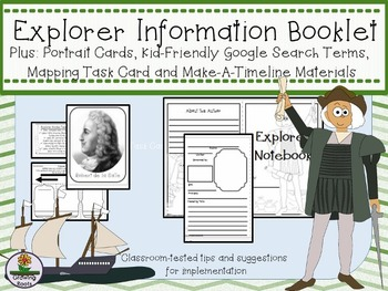 Explorer Research Booklet, Timeline Project and Portrait Cards