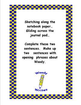 Explorer Woody Writes Set- Creative Writing Activity Cards