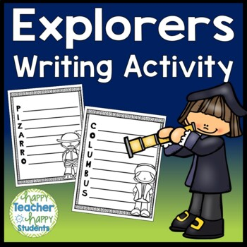 Explorers Writing Activity for 12 Explorers & FREE Explore