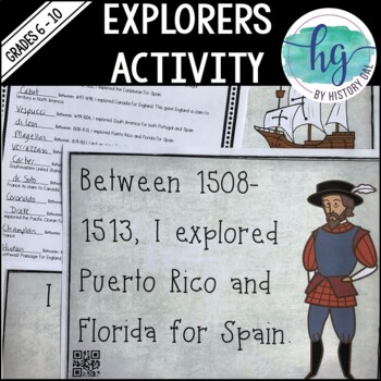 Explorers Scavenger Hunt {with and without QR Codes!}