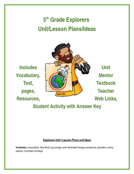 Explorers Unit / Lesson Plans