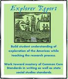 Explorers of the Americas Research Report- Social Studies/