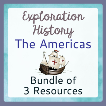 Explorers Exploration Bundle Task Cards Posters Graphic Or