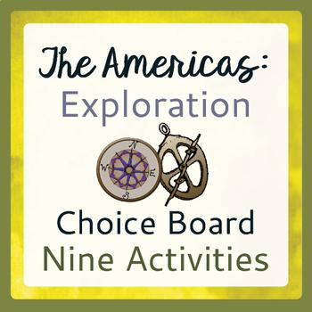 Explorers Exploration Choice Board 9 Activities