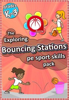 Exploring Bouncing Stations - PE Sport Skill activities fo