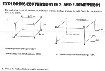 Exploring Conversions in 2 and 3 Dimensions