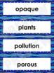 Liquids Word Wall Words- Editable