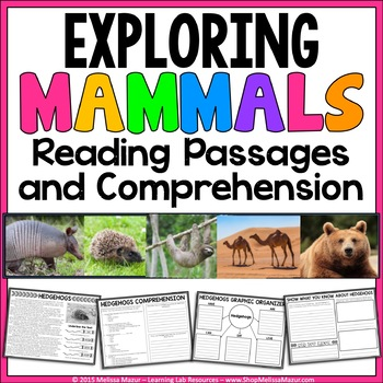Mammals - Reading Passages and Comprehension Activities